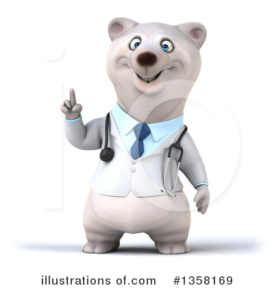 Doctor Polar Bear Clipart #1358169 by Julos