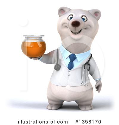 Doctor Polar Bear Clipart #1358170 by Julos