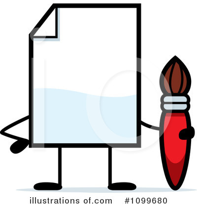 Paintbrush Clipart #1099680 by Cory Thoman