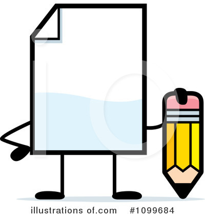 Document Clipart #1099684 by Cory Thoman