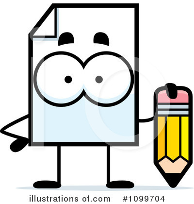 Document Clipart #1099704 by Cory Thoman