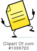 Document Clipart #1099720 by Cory Thoman
