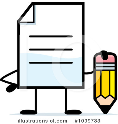 Document Clipart #1099733 by Cory Thoman