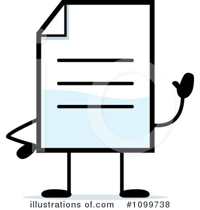 Document Clipart #1099738 by Cory Thoman