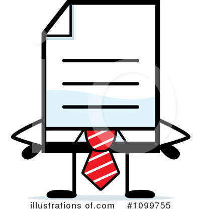 Document Clipart #1099755 by Cory Thoman