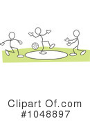 Royalty-Free (RF) Dodge Ball Clipart Illustration #1048897