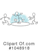 Royalty-Free (RF) Dodgeball Clipart Illustration #1048918