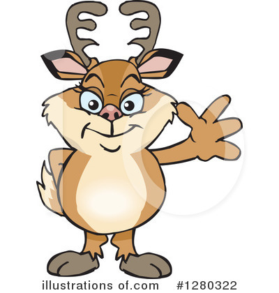 Deer Clipart #1280322 by Dennis Holmes Designs