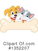 Royalty-Free (RF) Dog And Cat Clipart Illustration #1352207
