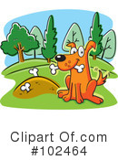 Royalty-Free (RF) Dog Clipart Illustration #102464