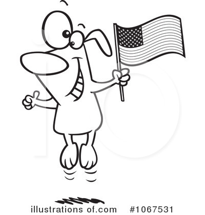 American Flag Clipart #1067531 by toonaday