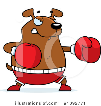 Boxer Clipart #1092771 by Cory Thoman