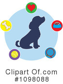 Royalty-Free (RF) Dog Clipart Illustration #1098088