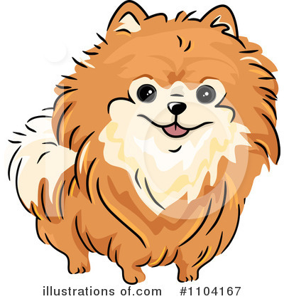 Clip Art of Cartoon Pomeranian Dog