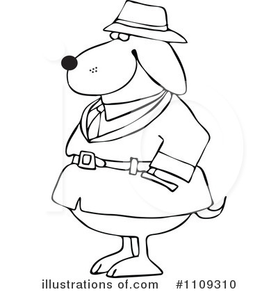 Detective Clipart #1109310 by djart