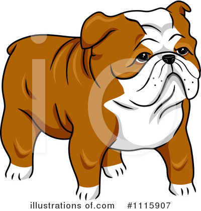 Bulldog Clipart #1115907 by BNP Design Studio