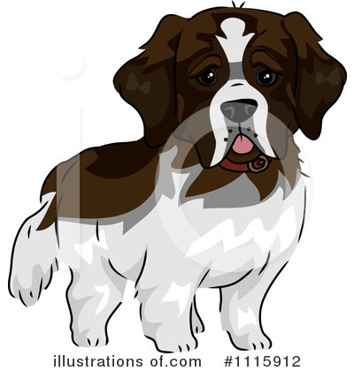 St Bernard Clipart #1115912 by BNP Design Studio