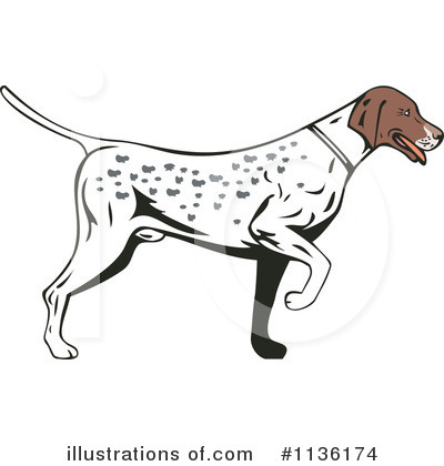Pointer Dog Clipart #1136174 by patrimonio