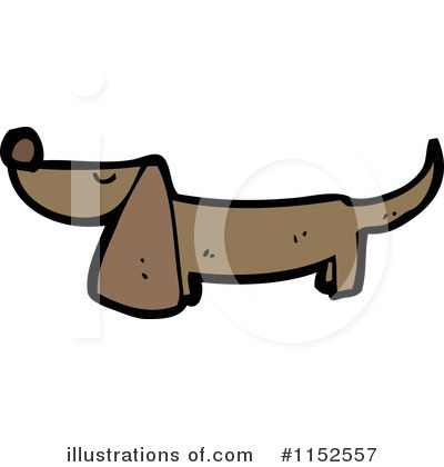 Daschund Clipart #1152557 by lineartestpilot