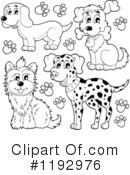 Royalty-Free (RF) Dog Clipart Illustration #1192976