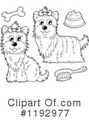 Royalty-Free (RF) Dog Clipart Illustration #1192977