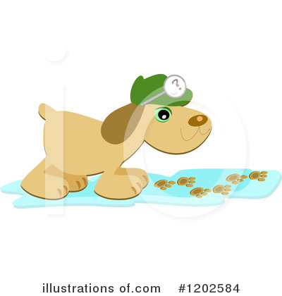 Royalty-Free (RF) Dog Clipart Illustration by bpearth - Stock Sample #1202584