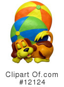 Royalty-Free (RF) Dog Clipart Illustration #12124