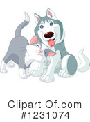 Royalty-Free (RF) Dog Clipart Illustration #1231074