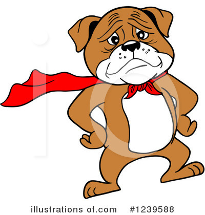 Bulldog Clipart #1239588 by LaffToon