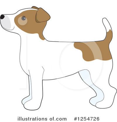 Jack Russell Terrier Clipart #1254726 by Maria Bell