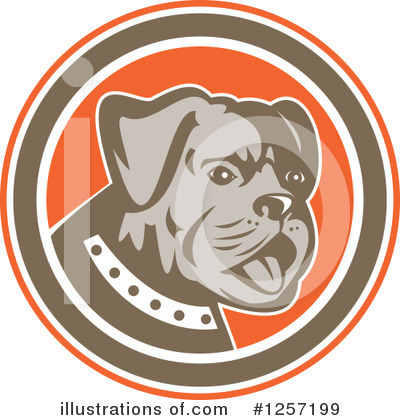 Bulldog Clipart #1257199 by patrimonio