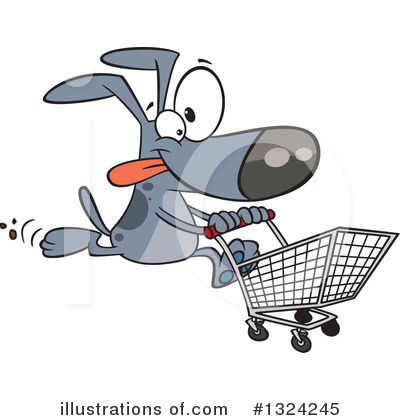 Shopping Cart Clipart #1324245 by toonaday