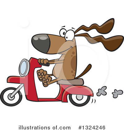 Scooter Clipart #1324246 by toonaday