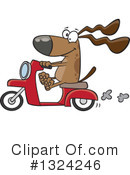 Royalty-Free (RF) Dog Clipart Illustration #1324246