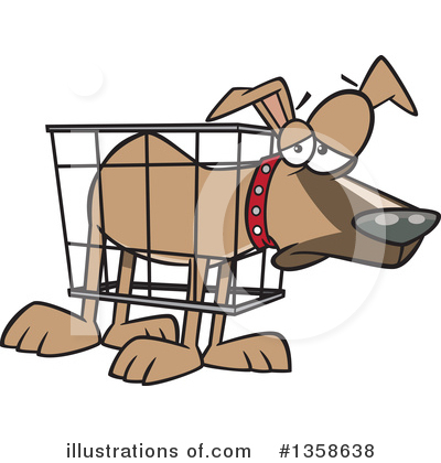 Royalty-Free (RF) Dog Clipart Illustration by toonaday - Stock Sample #1358638