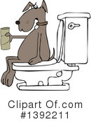 Royalty-Free (RF) Dog Clipart Illustration #1392211