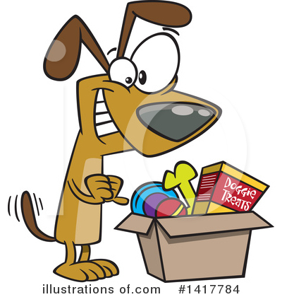 Royalty-Free (RF) Dog Clipart Illustration by toonaday - Stock Sample #1417784