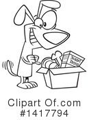 Dog Clipart #1417794 by toonaday