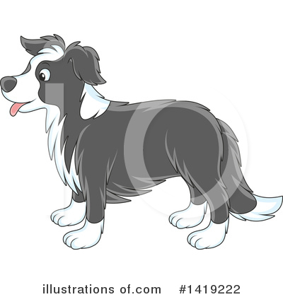 Dog Clipart #1419222 by Alex Bannykh
