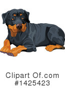 Royalty-Free (RF) Dog Clipart Illustration #1425423