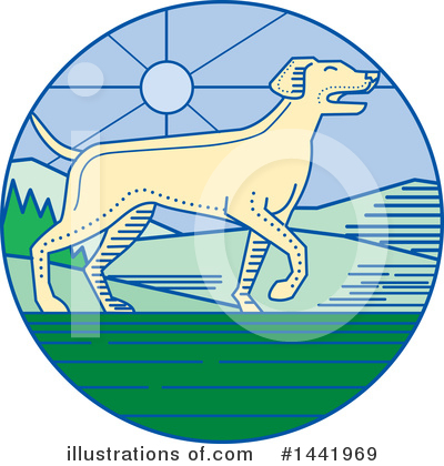Pointer Dog Clipart #1441969 by patrimonio