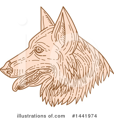 German Shepherd Clipart #1441974 by patrimonio
