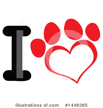 Paw Prints Clipart #1446365 by Hit Toon