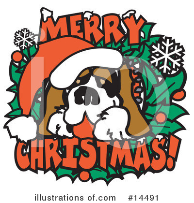 St Bernard Clipart #14491 by Andy Nortnik