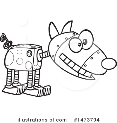 Robot Clipart #1473794 by toonaday