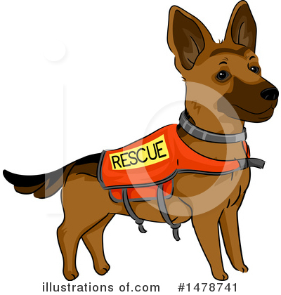 German Shepherd Clipart #1478741 by BNP Design Studio