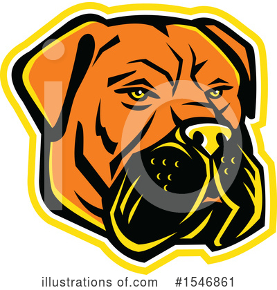 Royalty-Free (RF) Dog Clipart Illustration by patrimonio - Stock Sample #1546861