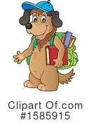 Dog Clipart #1585915 by visekart