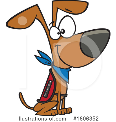 Royalty-Free (RF) Dog Clipart Illustration by toonaday - Stock Sample #1606352