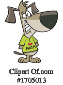 Dog Clipart #1705013 by toonaday